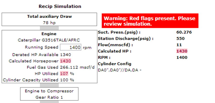 114 Recip Simulate Warning Flags